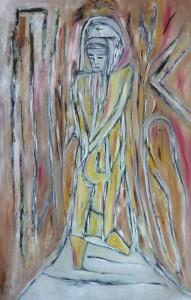 Die Auferstehung, Öl / Karton 2013, 112 x 71 cm
