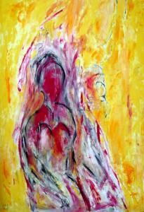 Die Schlucht meiner Träume verewigt mein Leben, Öl / Plakatkarton 2013, 95,6 x 67,9 cm