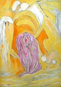 Demut, Öl / Plakatkarton 2013, 95,6 x 67,9 cm