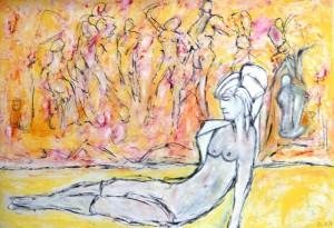 Die geöffnete Ewigkeit,  Öl / Plakatkarton 2013, 67,9 x 95,6 cm