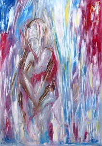 Der Kardinal, Öl / Plakatkarton 2013, 95,6 x 67,9 cm