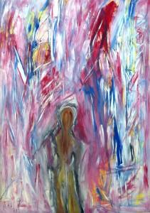 Die Nacht der Kristalle, Öl / Plakatkarton 2013, 95,6 x 67,9 cm