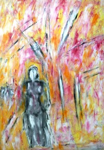 Die geheimnisvolle Hoffnung, Öl / Plakatkarton 2013, 95,6 x 67,9 cm