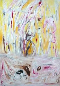 Die Innigkeit eines Geduldigen, Öl / Plakatkarton 2013, 95,6 x 67,9 cm
