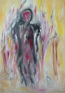 Die Zerrissenheit, Öl / Leinwand 2013, 100 x 70 cm