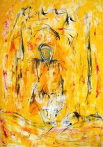 Die strahlenden flüchtigen Tränen, Öl / Plakatkarton 2013, 95,6 x 67,9 cm