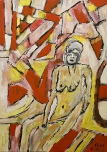 Die durchwachte Nacht, Öl / Zeichenpaper 2010, 59,1 x 41,7 cm