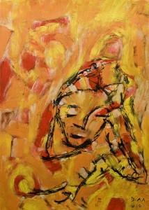 Der Ort wo Träumer schlafen, Öl / Zeichenpapier 2010, 59,1 x 41,7 cm