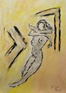 Zartheit, Öl / Zeichenpapier 2010, 59,1 x 41,7 cm