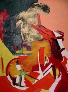 Die Gesten der Nacht, Öl / Plakatkarton 2006, 95,6 x 67,9 cm