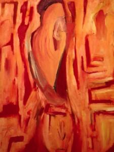 Spiegel der Undurchdringlichkeit, Öl / Leinwand 2008, 100 x 80 cm