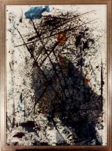 Begehbares Wir, Öl / Plakatkarton 1991, 95,6 x 67,9 cm