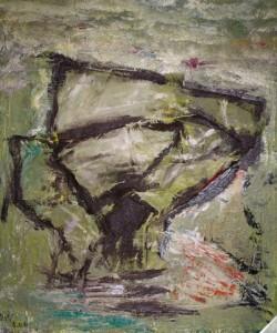 Die Flügel des Schweigens, Öl-Tücher / Holz 2006, 62,3 x 52,7 cm