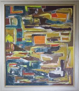 Fruchtendes Begehren im Einklang zur Steigerung der neuen Zeit, Öl / Holz 2006, 120 x 100 cm