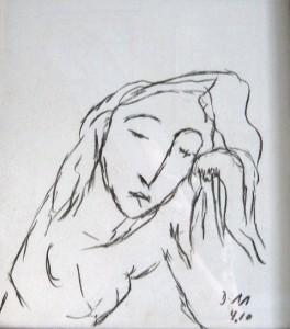 Die glänzende Stille ihrer Träume, Zeichenkohle 2010