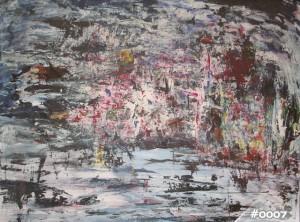 Die Welt die sich meinem All entreisst, Öl / Plakatkarton 2003, 70 x 100 cm