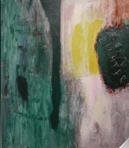 Zeitlichter,  Öl-Dispersionsfarbe / Leinwand 2003, 120 x 100 cm