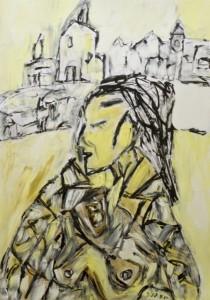Gigolo von St. Tropez, ÖL / Zeichenpapier 2010, 59,1 x 41.7 cm