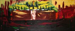Das Abendmahl, Öl / Leinwand 1998, 70 x 170 cm