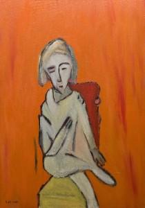 Schmerzende Seele,  Öl / Leinwand 2009, 100 x 70 cm