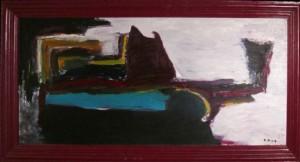 Der Schlaf, Öl / Holz 1997, 70 x 170 cm