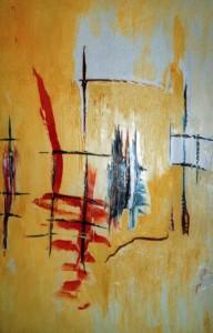 Die gleichförmige Anmut eines engen Lebens, Öl / Leinwand 1997, 120x 100 cm
