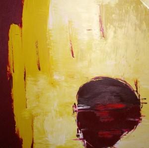 Der Zeitstrom, Öl / Leinwand 2002, 110 x 100 cm