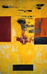 Der Spiegel der Tränen, Öl / Leinwand 1997, 120 x 100 cm