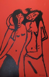 John and Yoko, Öl / Karton 2006, 112 x 71 cm