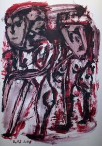 Das Ewige, Öl / Plakatkarton 2008, 95,6 x 67,9 cm