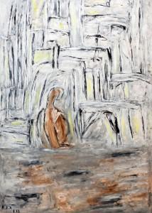 Am Abend des Lebens, Öl / Plakatkarton 2013, 95,6 x 67,9 cm