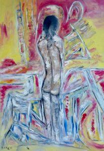Die Ungeduld der Hoffnung, Öl / Leinwand  2016, 100 x 70 cm