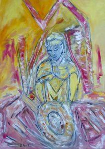 Der Engel der Sanftmut,  Öl / Leinwand 2016, 100 x 70 cm