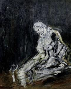 Im Schimmer der Jugend, Öl / Plakatkarton 2019, 95,6 x 67,9 cm