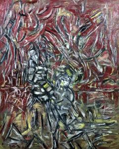 Zerrissenheit, Öl / Plakatkarton 2019, 95,6 x 67,9 cm