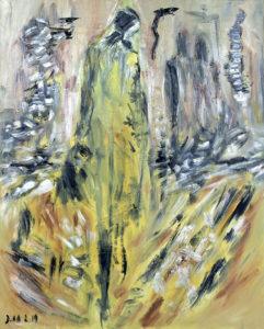 Die weiblichen Straßen, Öl / Leinwand 2019, 100 x 80 cm