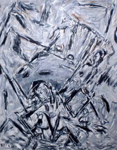 Im Taumel der Unendlichkeit, Öl / Leinwand 2020, 100 x 80 cm