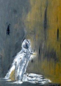 Einsamkeit, Öl / Plakatkarton 2018, 95,6 x 67,9 cm