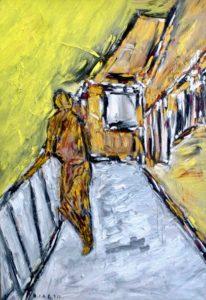 Am Ort der Gelassenheit, Öl / Leinwand 2020, 100 x 70 cm