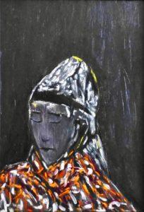 Die Klarheit, Öl / Holz 2020, 57 x 38,8 cm
