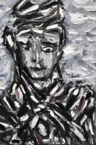 Der Wille, Öl / Leinwand 2020, 40,2 x 24,8 cm