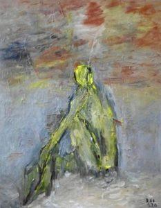 Unter den Zweigen des Windes, Öl / Leinwand 2020, 100 x 70 cm