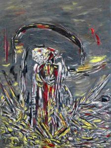 Das Erwachen der Dunkelheit, Öl / Leinwand 2020, 80 x 60 cm