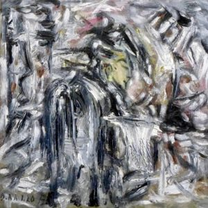 Johannes der Täufer, Öl / Leinwand 2020, 50 x 50 cm