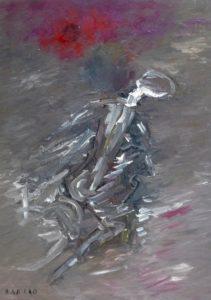 Das bleiche Licht der Erinnerung, Öl / Plakatkarton 2020, 95,6 x 67,9 cm