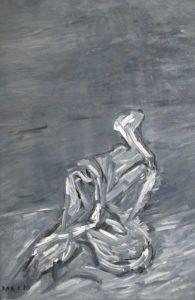 Der erfüllte Augenblick des Seins, Öl / Hartfaser 2020, 105 x 68,5 cm