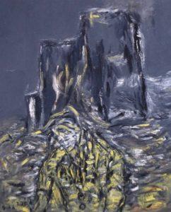 Die erloschene Nacht, Öl / Leinwand 2020, 100 x 80 cm
