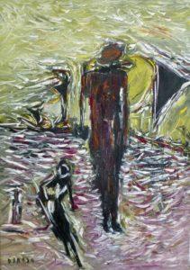 Das durchsonnte Behagen, Öl / Leinwand 2020, 100 x 70 cm
