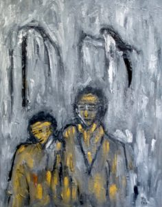 Vertrautheit, Öl / Leinwand 2020, 100 x 80 cm