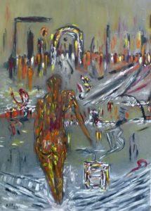 Die verlorene Stadt, Öl / Leinwand 2020, 140 x 100 cm